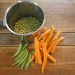 Food worteltjes doperwten peulen