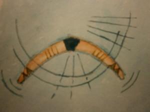 Paintings boomerang boemerang waterverf schilderij