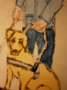 Paintings guide dog blinden geleiden hond