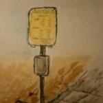 Paintings bus stop bushalte waterverf schilderij