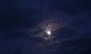 Sunset Sky lucht zonsondergang moon maan
