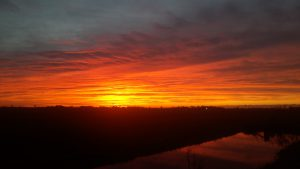 Sunset, sky, Friesland