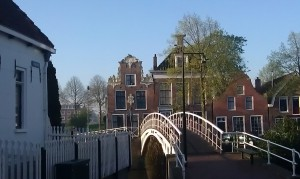 building Dokkum Friesland bridge