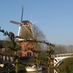 Building Dutch Mill Dokkum Friesland