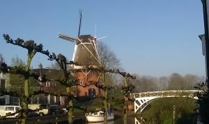 Building Dutch Mill Dokkum Friesland