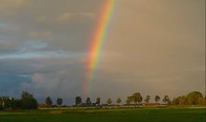 sky rainbow scenery