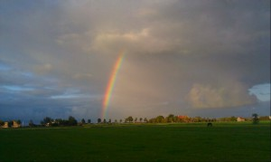 Sunset Sky lucht zonsondergang regenboog rainbow