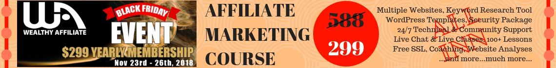 Black Friday 2018 affiliate marketing course
