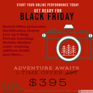 Wealthy Affiliate banner Black Friday discount